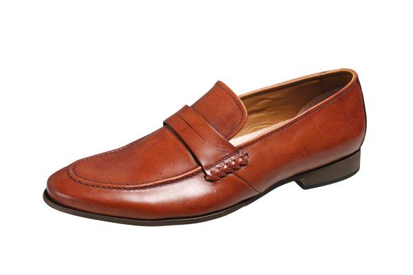 キャサリンハムネットメンズシューズ31610ブラウンUチップスリッポンビジネスシューズ紳士靴
