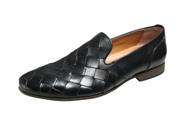 キャサリンハムネット メンズシューズ 31612ブラック KATHARINEHAMNET メッシュ風ビジネスシューズ 紳士靴