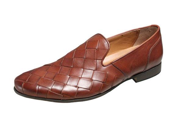 キャサリンハムネット メンズシューズ 31612ブラウン  KATHARINEHAMNET メッシュ風ビジネスシューズ 紳士靴