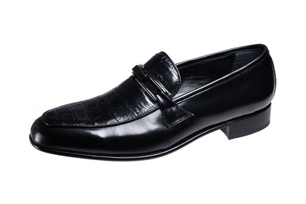 マドラスメンズシューズルテシアLUTECIA紳士靴Uチップスリッポン3000ブラック