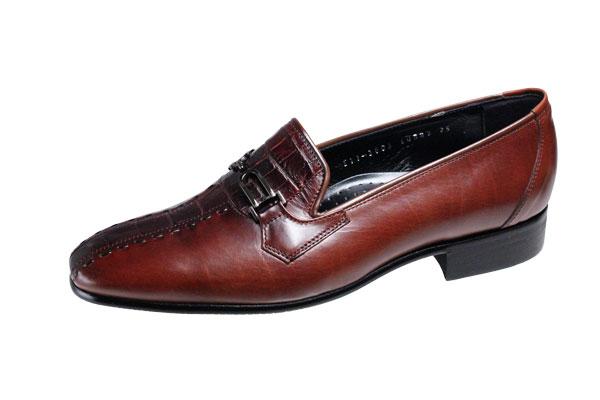 エレガンスメンズシューズ最高級な素材で作った紳士靴スリッポン982ブラウン