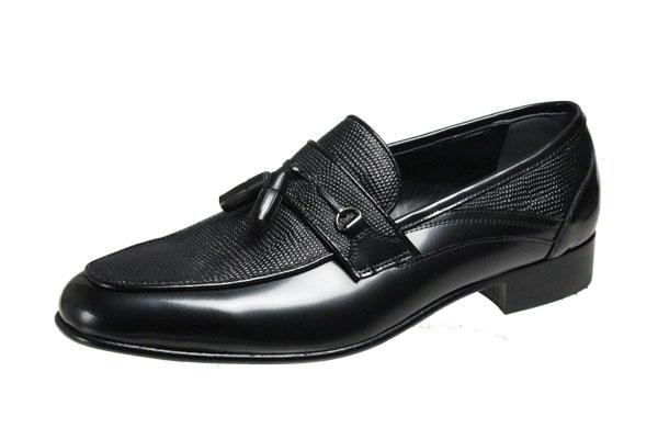 マドラスルテシアメンズシューズ3005ブラックUチップタッセル付スリッポン紳士靴