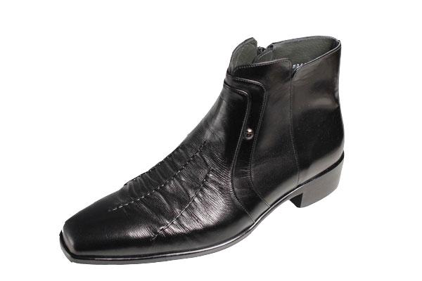 【送料無料】マドラスmadrasメンズドレスブーツ563ブラック11cm長マッケイ作り本革ブーツ