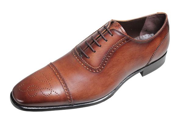 【送料無料】マドラスメンズシューズ168ブラウン【madras】本格派紳士靴ストレートチップ