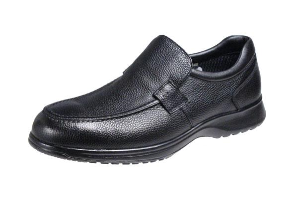 マドラスウオークメンズシューズ8009黒ゴアテックス使用Uモカスリッポンカジュアルシューズシュリンク革でカジュアルな履き心地を楽しめるシューズ