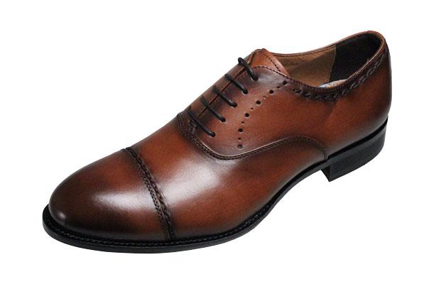 【送料無料】マドラスモデーロメンズシューズ317ライトブラウン【madras MODELLO】ストレートチップ紳士靴