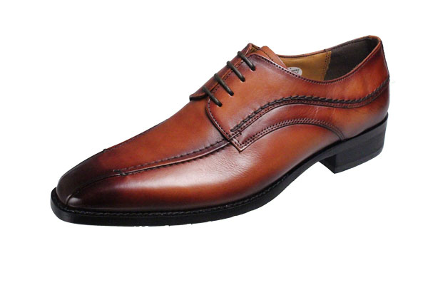 マドラスモデロメンズシューズ流モカ外羽根紐付き紳士靴本革ビジネスシューズ5019ライトブラウン