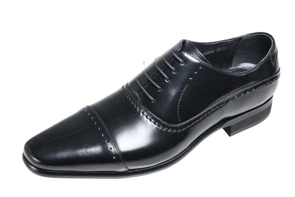 トラサルディメンズシューズストレートチップtrussardi紳士靴10259ブラックビジネスシューズ