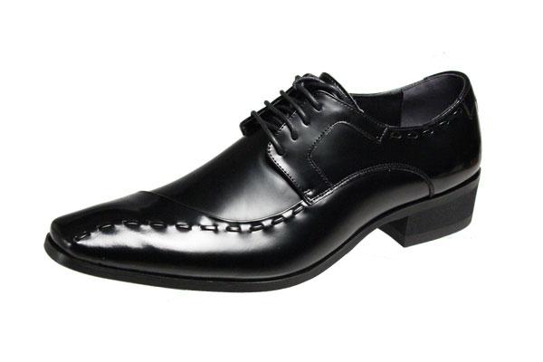 トラサルディメンズシューズ10251aブラック紳士靴斜めステッチビジネスシューズ