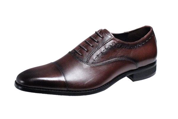 マリオバレンチノ紳士靴MARIO VALENTIBOストレートチップビジネスシューズ3039ダークブラウン