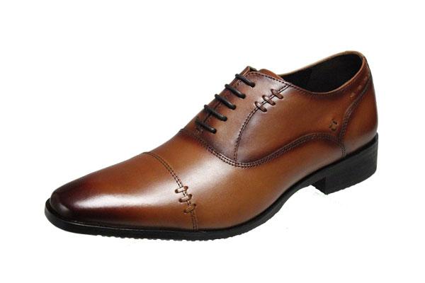 ヴィアマドラスメンズシューズ4024ライトブラウンストレートチップ紳士靴ビジネスシューズ