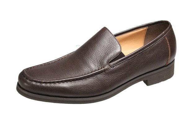 マドラスメンズシューズ5676ダークブラウンローファータイプスリッポン紳士靴