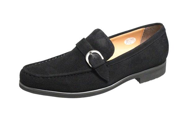 マドラスモデロビータ メンズシューズ 5692ブラックスエード紳士靴スリッポン