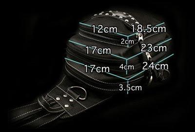 两分频袋背包或肩包真皮单肩挎包2-WAY Bag Backpack or Shoulder Bag Genuine Leather Shoulder Sling Bag WILD HEARTS Leather&Silver( Item ID bb2569t52)
