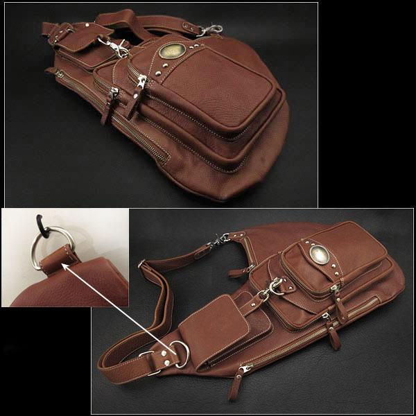 658116dcd2 WILD HEARTS  Genuine Leather Backpack Shoulder Sling Bag Brown Tan ...