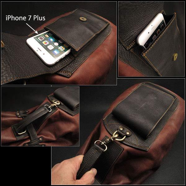 정품 말을 숨기기 가죽 가방 배낭 어깨 가방 2-WAY 체육관 가방 Genuine Horsehide Leather Backpack Rucksack Shoulder Bag 2-WAY Gym Bag WILD HEARTS Leather & Silver (Item ID bb2788b10)