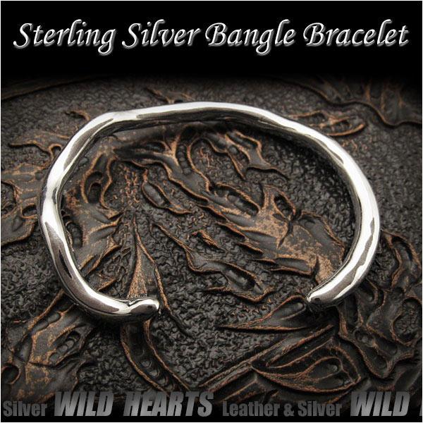 バングル ブレスレット シルバー925 フリーサイズ  メンズSterling Silver 925 Fashion Women Men's Twisted Bangle Bracelet CuffWILD HEARTS (ID sb3673r79)