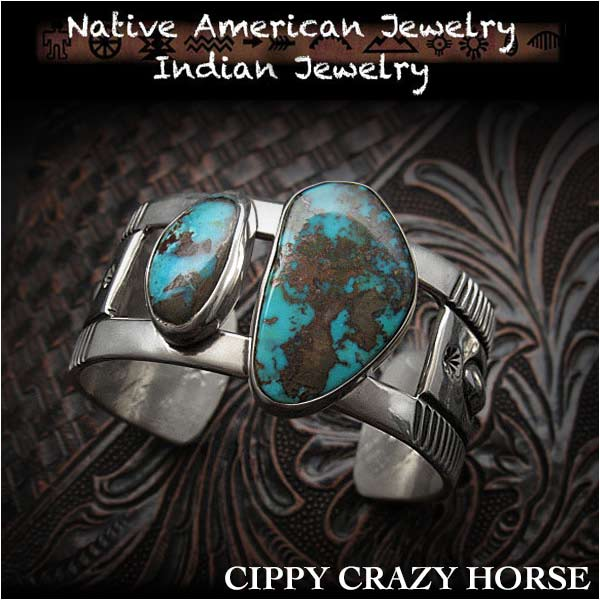 Wild Hearts Cippy Crazy Horse Cuff Apache Blue Turquoise