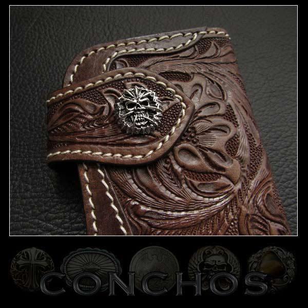 콘쵸 스컬 잔인 한 죽음의 사신 실버 925 Concho Skull Grim reaper Death Silver 925 WILD HEARTS Leather&Silver (Item ID con6t2)