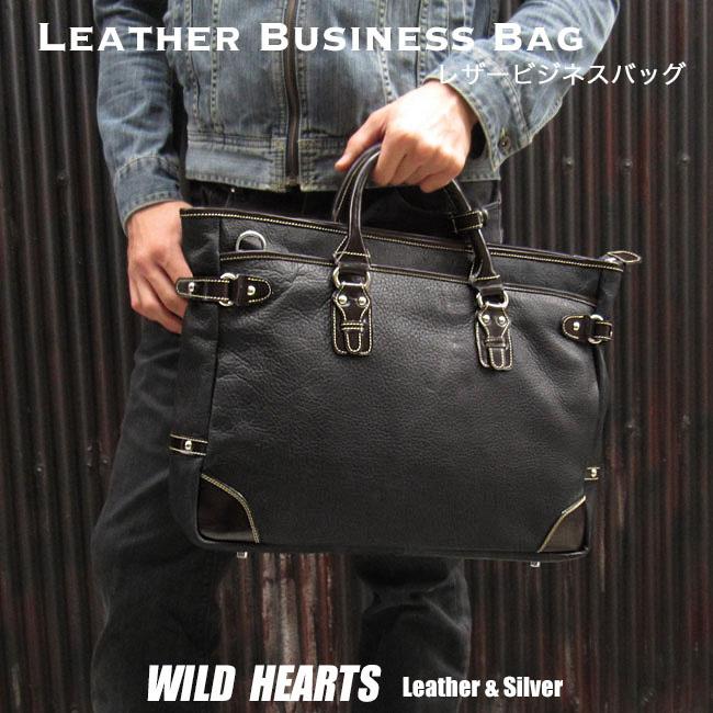 メンズ 革 ビジネスバッグ  牛革 ブリーフケース Men's Best Quality genuine Cowhid Leather Business Bag Briefcase Handbag Work BagWILD HEARTS Leather&Silver (ID bb3522b32)
