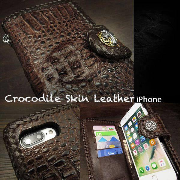 48e8c90159 WILD HEARTS: Crocodile Skin Leather iPhone X,XS/Plus,XS Max/XR Flip ...