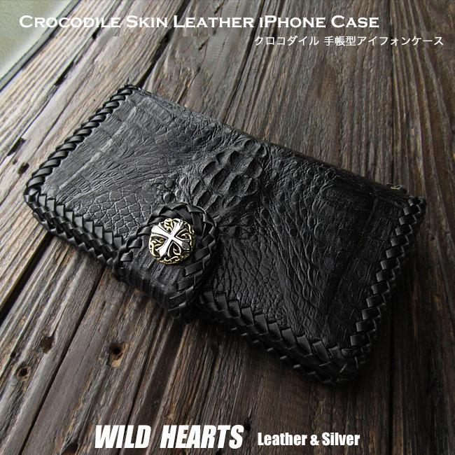 3b4c710159 Crocodile Skin Leather iPhone X,XS/Plus,XS Max/XR Flip Case Wallet Cover  Custom WILD HEARTS Leather&Silver (ID ip2878r45)