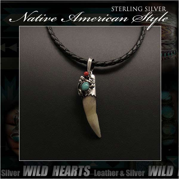 Wild hearts rakuten global market sterling silver necklace wild hearts rakuten global market sterling silver necklace pendant crocodile fang turquoise pendant navajo style wild hearts leathersilver id pt3225 aloadofball Choice Image