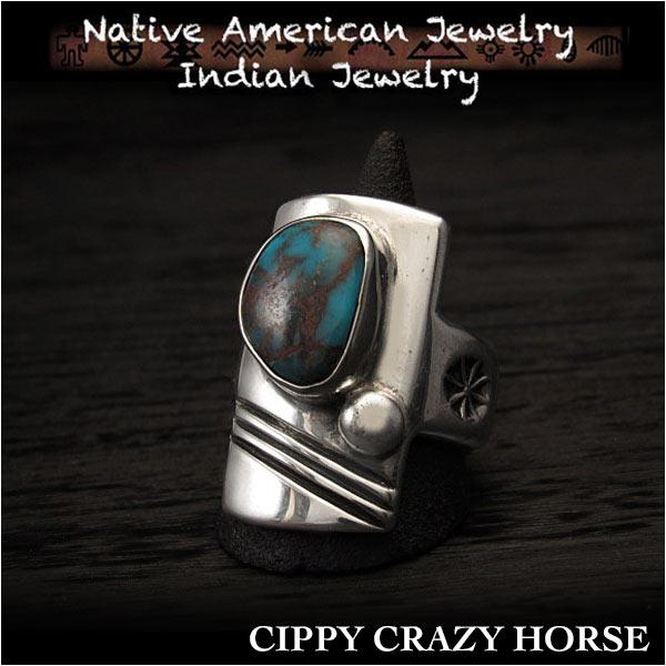 新品 シッピー クレイジー ホース リング キャストリング ビズビーTQ 25号アパッチブルー ターコイズ インディアンジュエリー シルバ925 コチティプエプロ族 ユニセックスCippy Crazy Horse Ring Size US #12 Apache Blue Turquoise (ID na3187r73)