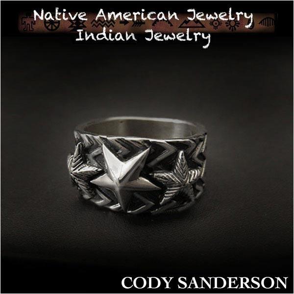 新品 コディ サンダーソン/Cody Sanderson リング 20号 インディアンジュエリー シルバー925 ナバホ族 ユニセックスCody Sanderson Wave Gear 3 Stars Ring Size US#10 Native American Indian Jewelry Sterling Silver Navajo (ID na3182r73)