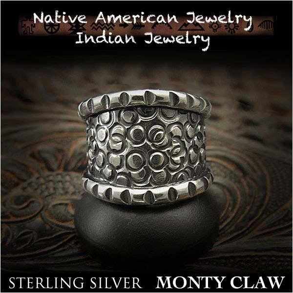 新品 モンティ・クロー/Monty Claw リング 23号インディアンジュエリー シルバー925 ナバホ族 ユニセックスMonty Claw ring US,size #11 Native American Indian Jewelry Sterling Silver 925(ID na3204r73)
