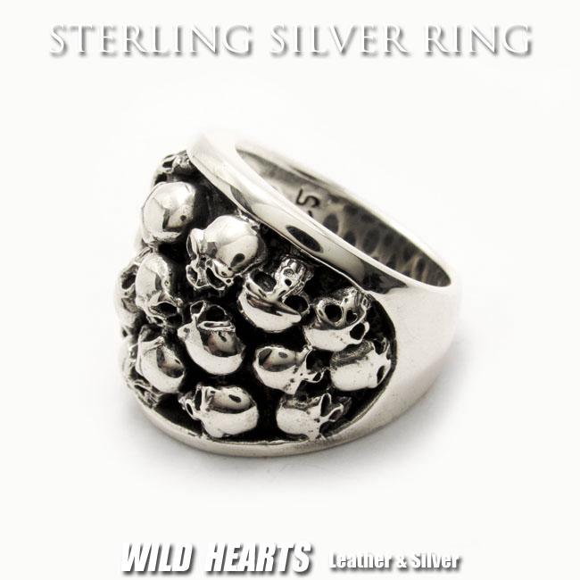 シルバースカルリング 指輪 シルバー925 髑髏 ドクロ STERLING SILVER RING Gothic Skull Ring Punk Rock (ID sr0787r64)
