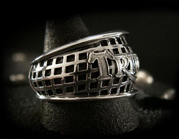스털링 실버 링 승리 자전거 링 STERLING SILVER RING Triumph Bikers Ring WILD HEARTS Leather&Silver ( ID trs0816 )