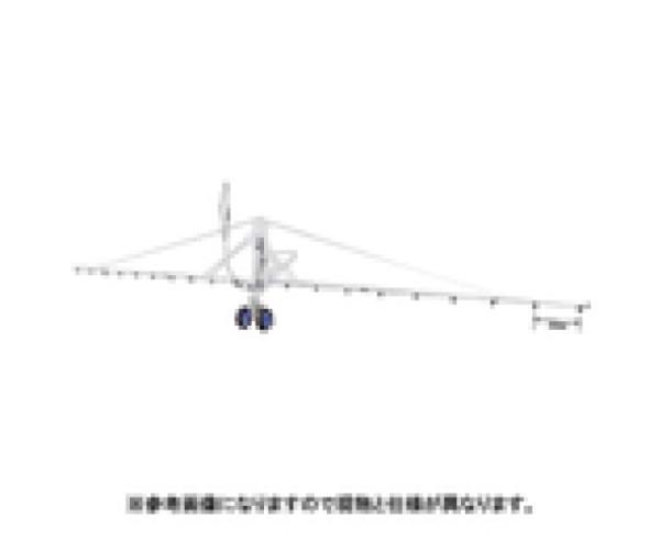 ヤマホ工業 中持カートW型18頭口 (キリナシ除草)