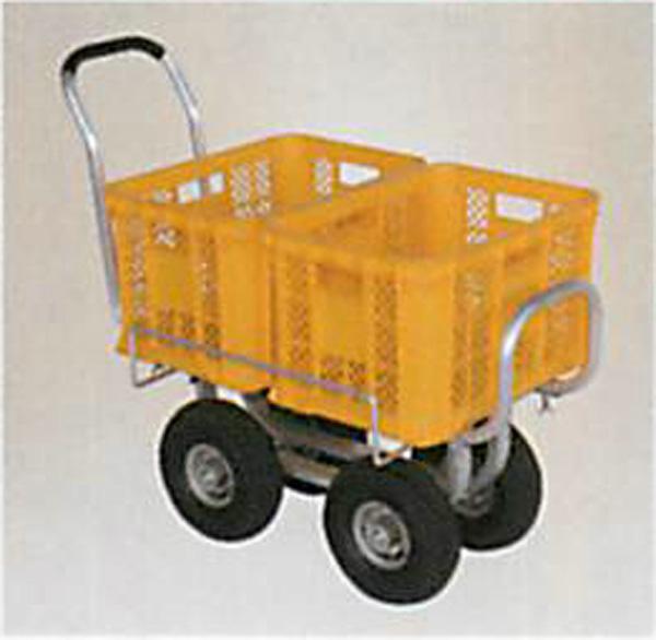 ハラックス アルミ製ハウスカー(タイヤ幅調整タイプ)ノーパンクタイヤ(3.50-4A) CH-1000NA