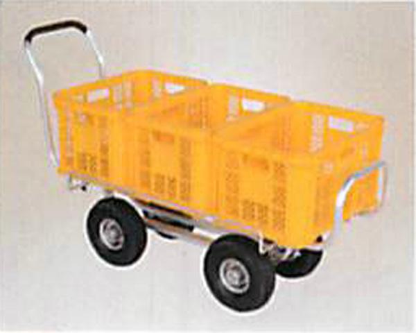 ハラックス アルミ製ハウスカー(タイヤ幅調整タイプ)ノーパンクタイヤ(3.50-4A) CH-1500NA