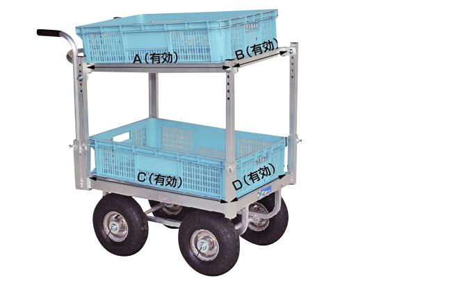 ハラックス 愛菜号 ハウスカー2段積タイプ CHR-30-2 エアータイヤ(2.50-4T)