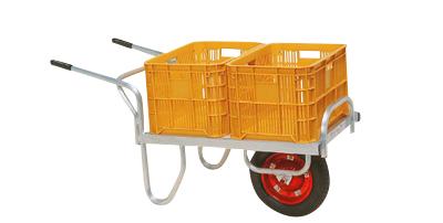 ハラックス コン助 アルミ製 平形1輪車 20KGコンテナ用 CN-40D エアータイヤ