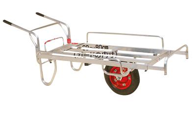 ハラックス コン助 平形1輪車 伸縮式サイドガード付・ストッパー伸縮タイプ CN-65DS エアータイヤ
