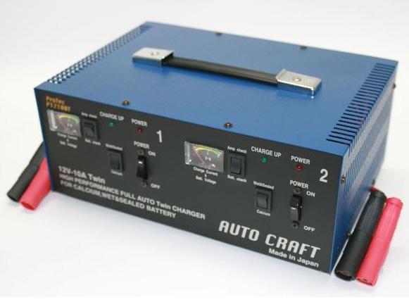 アルプス計器 12/24V兼用 自動車用 バッテリー充電器 P12100T バッテリーチャージャー