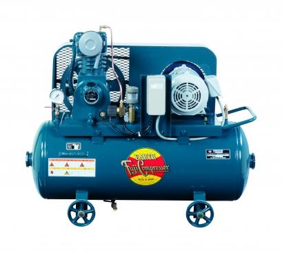 富士コンプレッサー 1.5kW FS-15P MT 汎用形空冷一段圧縮コンプレッサ タンクマウント形 圧力開閉式 給油式 三相モートル