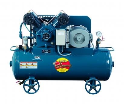 富士コンプレッサー 3.7kW FS-37P MT 汎用形空冷一段圧縮コンプレッサ タンクマウント形 圧力開閉式 給油式 三相モートル