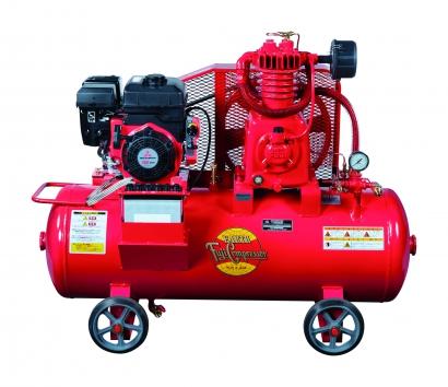 富士コンプレッサー 2.2kW SW-33N ESB 空冷二段圧縮エンジン搭載形コンプレッサ (単胴形) 自動アンローダ式 給油式