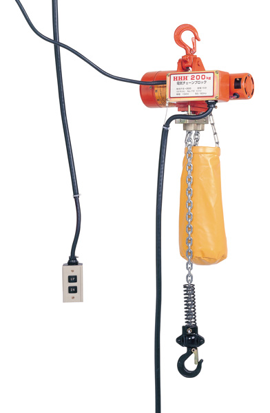 HHH スリーエッチ 電気 電動チェーンブロック200Kg 揚程3m FE200