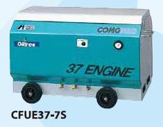 アネスト岩田 3.7kW エンジンコンプレッサー セル付 CFUE37-7S オイルフリー 出張作業用 パッケージタイプ