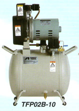 アネスト岩田 0.4kW エアーコンプレッサー TFP04C-10 (C5/C6) 単相100V オイルフリー タンクマウントタイプ