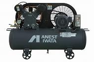 アネスト岩田 1.5kW エアーコンプレッサー TLP15EF-10 三相200V 給油式 タンクマウントタイプ