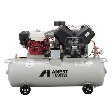アネスト岩田 7.5kW エンジンコンプレッサー セル付 評判 メーカー直送 出張作業用 TLUE75B-14S 給油式