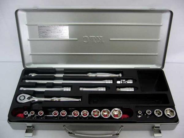 KTC 9.5mm 3/8 ソケットレンチセット 21pc TB314