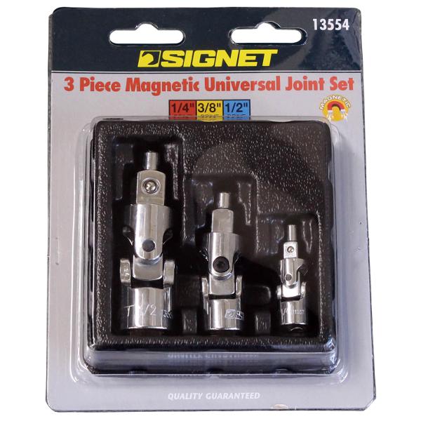 シグネット SIGNET マグネット付ユニバーサルジョイントセット 13554 人気海外一番 3本組 最新号掲載アイテム