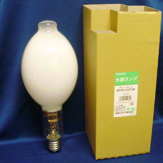 東芝 チョークレス水銀ランプ 750W形 E39 水銀灯 BHF200-220V750W